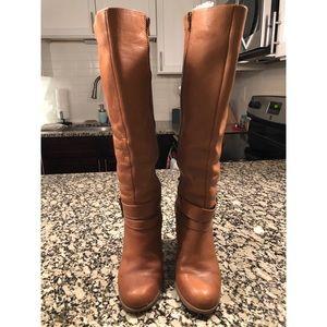 Nine West tan knee high boots